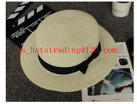flat top cheap mens straw straw boater hat wholesale