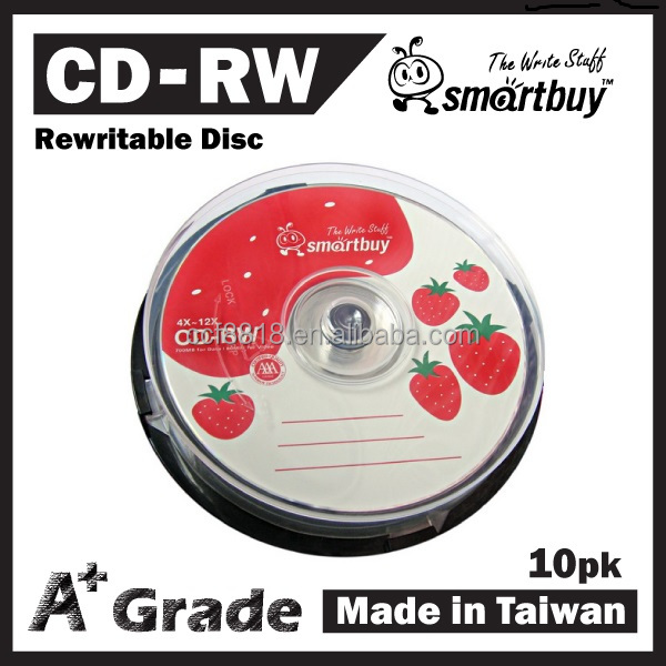 Blank Rewritable CD-RW/CDRW 700MB 12X, products from taiwan