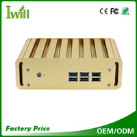Mini pc i5 fanless 4200U dual core support win 7 win 8 and linux