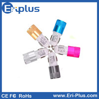 Wholesale colorful metal ring mini USB car charger for Iphone / Ipad mini / Samsung 5V 1.5A