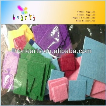 Manufacture Selling square felt sheet/DIY fuzzy felt