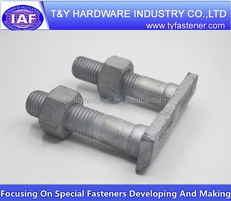 Track bolt for rail construction 45# steel