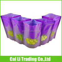 high quality stand up circle window ziplock sachets