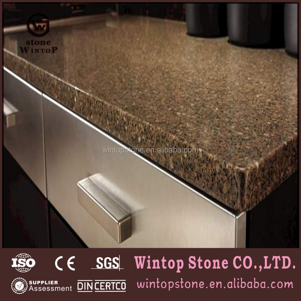 QCT0273 Chemical Resistance artificial black quartz countertop for kitchen hot sale in India