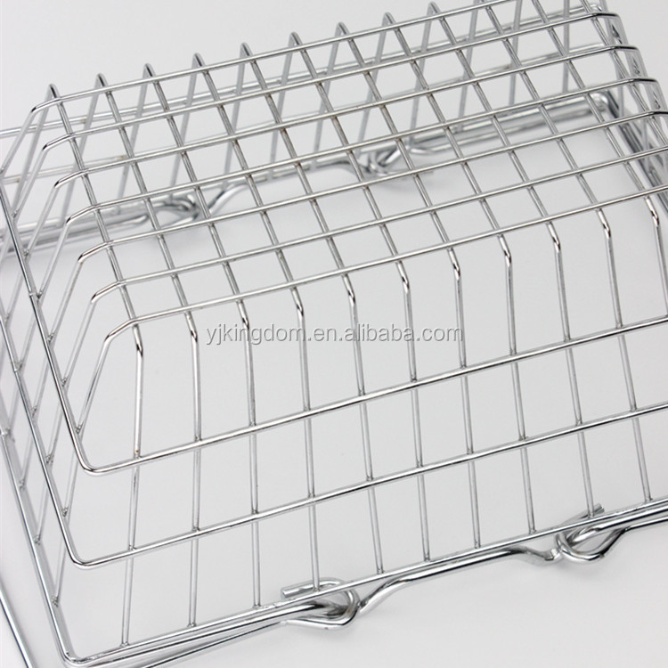 547-64 fashion wire mesh storage basket with chrome plate