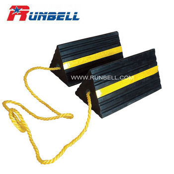 Rubber Aircraft Wheel Chocks Single or Pair with Rope