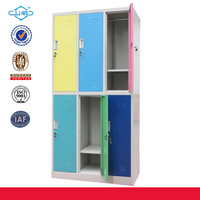 Latest vertical KD small metal locker steel wardrobe closet