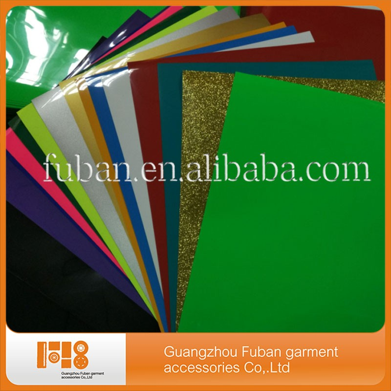 Wholesale high reflective pvc pu vinyl t shirt textile heat transfer vinyl sheets