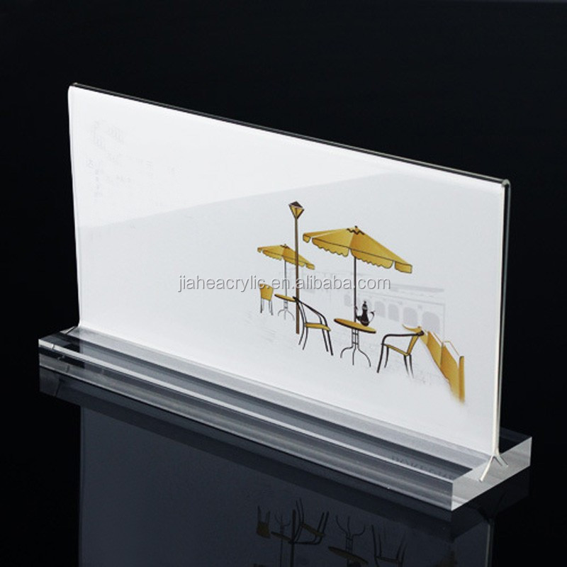 Crystal clear plastic handmade table tent acrylic place card holder wholesale