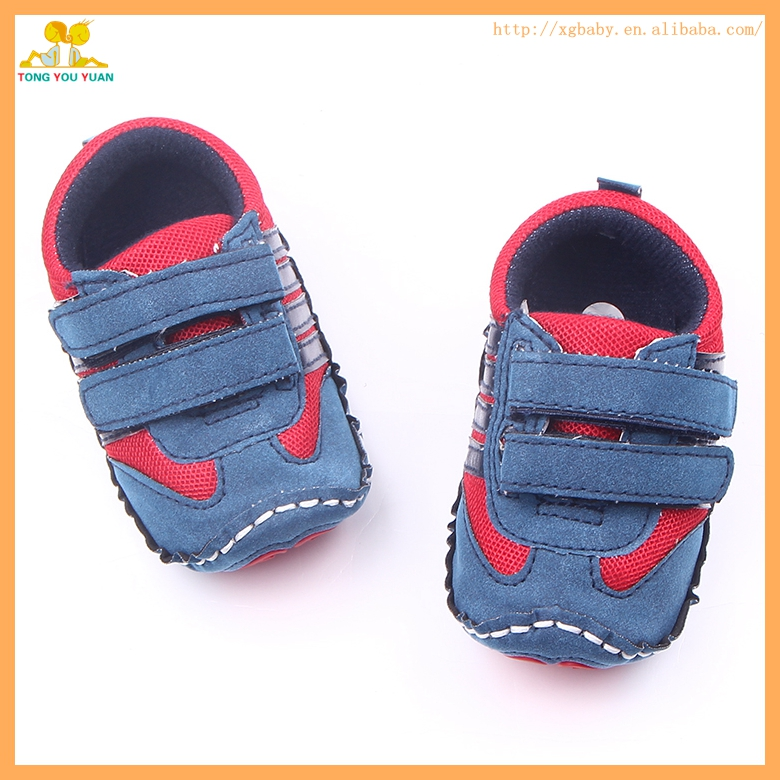 New style cool nubuck leather hard sole baby walking shoes for boys