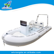 China CE Certificate Manufacturer PVC Hypalon Aluminum Hull Rigid Inflatable RIB Boat for sale