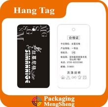 one color printing hemp rope Kraft paper hang tag with eyelet