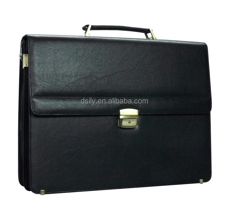 Custom classical Designer PVC Leather Briefcase For Men / Hard Briefcase business bag