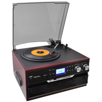 Classic USB drive turntable record player with cd on sale