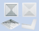 aluminum four way square air ceiling diffuser with damper