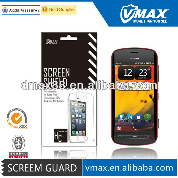 Mobile Phone screen protector for Nokia 808 oem/odm (High Clear)