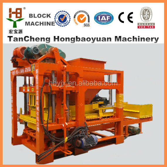 widely used concrete hollow block ice making machine for sale QTJ4-25 in usa