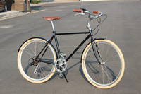 hot sale new model fashion CR-MO frame CR-MO frame vintga bicycle 7 speed city bike road bike