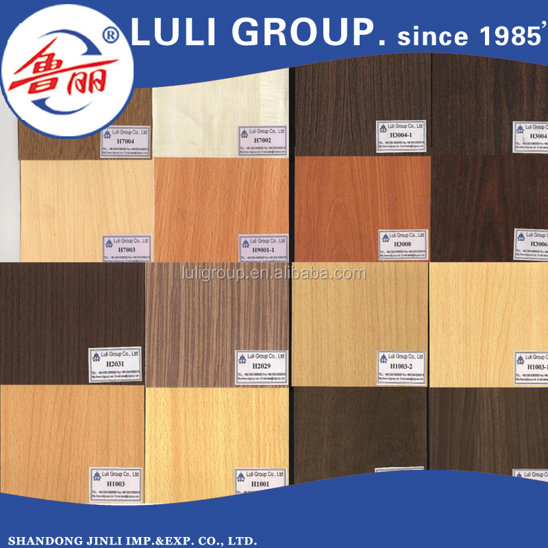 wood grain color melamine board on mdf/particleboard/plywood