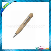Multifunctional wooden pen shape usb flash drive with costom logo