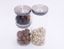 Food grade recycled cosmetics glass jars for food packageing with stainless steel lids