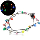 3 Different Modes Colorful LED Light Up Christmas Bulb Necklace LED String Light