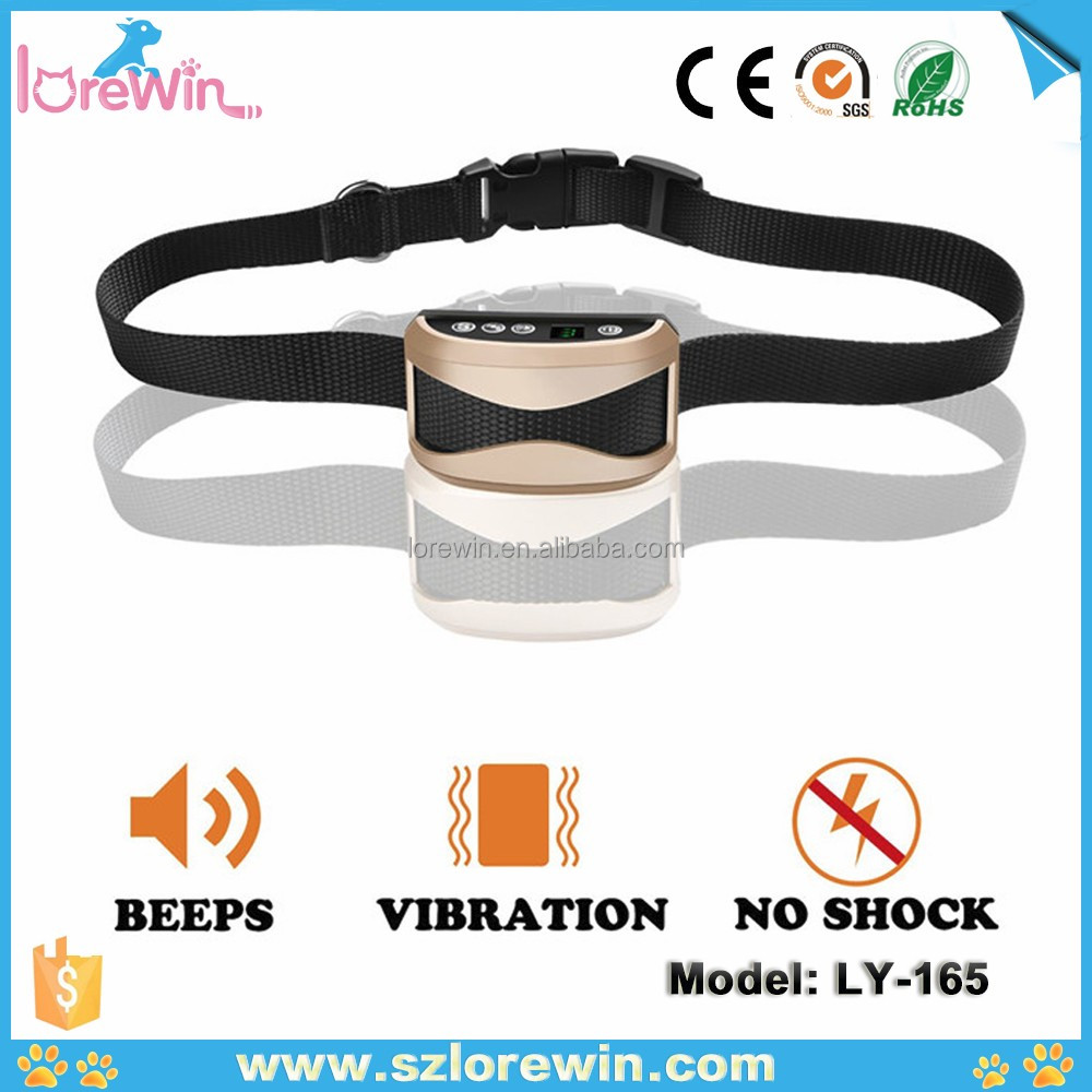 LoreWin LY-165 Wholesale waterproof shock collar no bark dog training hunting collar No Barking Control Anti Bark Trainer