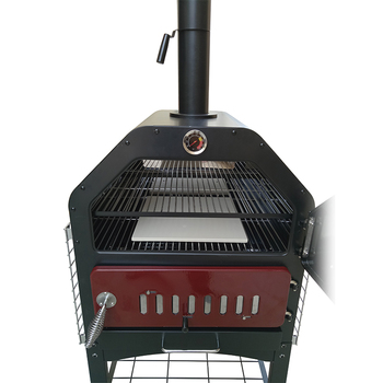 Deluxe Wood Fired Pizza Oven With Window