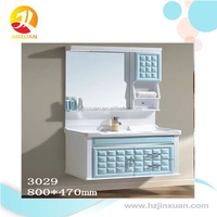 French style wall mounted bathroom mirror cabinet and glass basin bathroom furniture