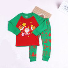 Fall Winter Girls Santa Sets baby 옷 크리스마스 children 잠 옷
