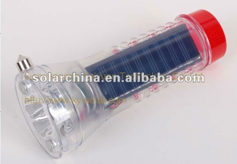 2013 New Arrival Top Sales solar torch light parts in dark