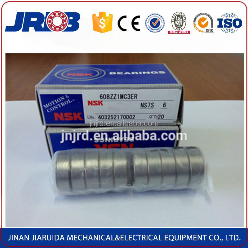 High quality deep groove ball bearing nsk 608z for roller skates