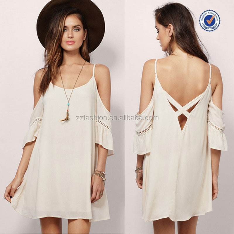 2015 spaghetti strap cold shoulder cross dress one size fits all dress new fashion ladies modern dress