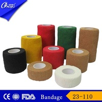 With 16years manufacture factory supply cut or feather edge easy tear veterinary self adhesive elastic bandage