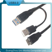 usb 3.0 2am-micro b Y Power Extension Y Cable for Hard Drive HDD cable