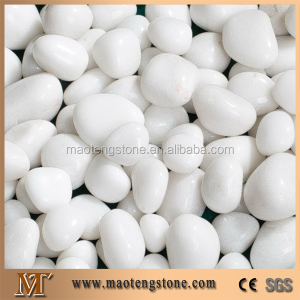 Pure White Polished Beautiful Landscaping Decorative White Pebbles