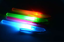 Colorful led glow stick with flashing light wand flashlight whistle