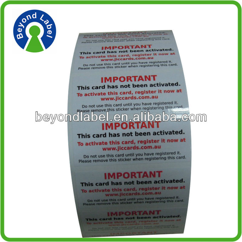 Eco friendly custom adhesive label printing,Warranty printing adhesive custom electronic component label