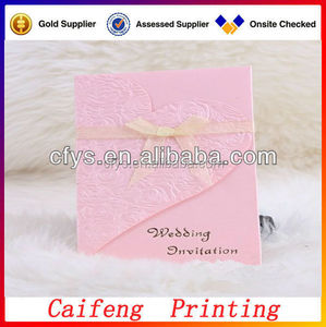 High quality creative design luxury floral wedding invitations, custom paper cut greeting cards