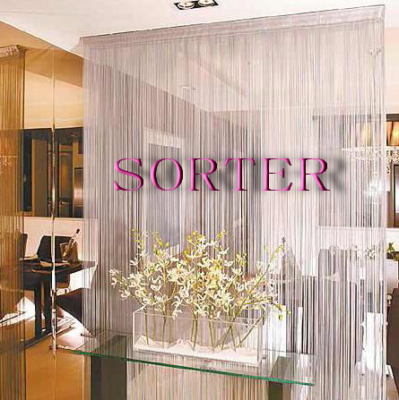 modern hanging decorative string curtain/line screen for room divider/window/door with beads