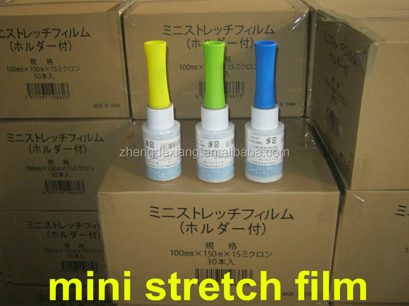 hot selling PE mini stretch film & PE mini stretch wrapping film for hand using