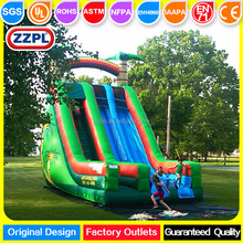 ZZPL tropical inflatable pool slides for inground pools, palm tree inflatable slide for kids