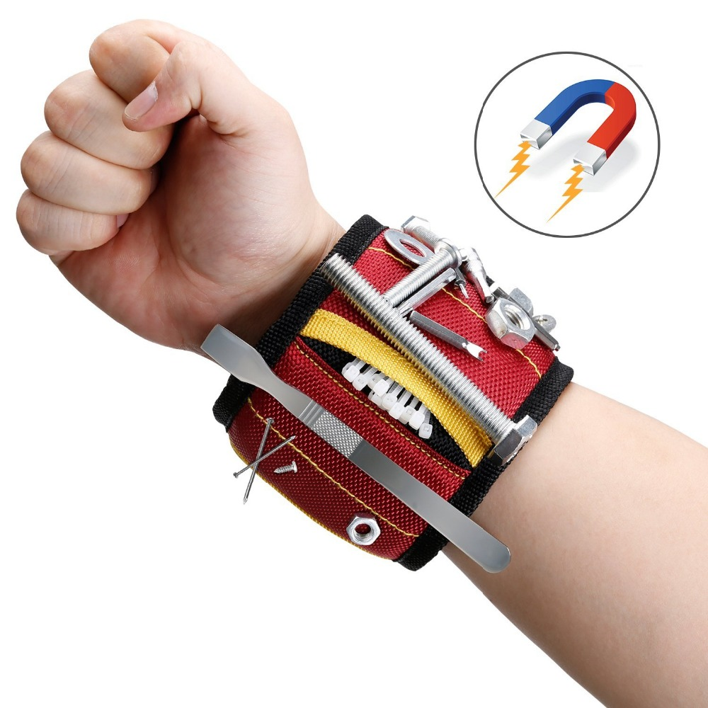 2017 Newest Strong Magnetic Wristband Holds Small Metal Tools