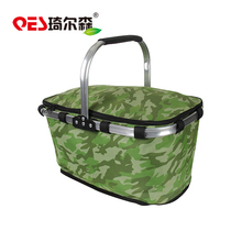 Folding portable good quality environmental camping fruit and vegetable 4 person picnic basket