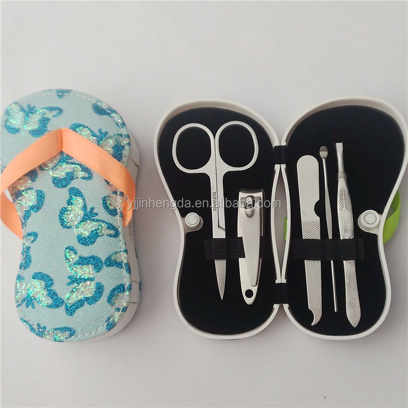 Hot sale stainless steel 5 pcs manicure kit Slipper manicure set