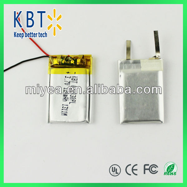 3.7V 032030PL 120MAH Rechargeable Li-ion Battery