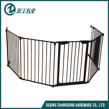 easy-close extra tall and wide metal gate baby safety gate