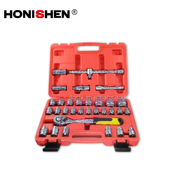 "Free Sample Hand <strong>Tools</strong> 32 pcs Cr-v material 1/2"" Dr. Hexagon wrench socket set in Blow Box"