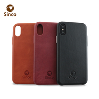 for iphone x high quality first class oem cow leather phone case with metal button