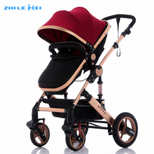 Customized Aluminum Chasis Baby Stroller Pram With Big Wheels